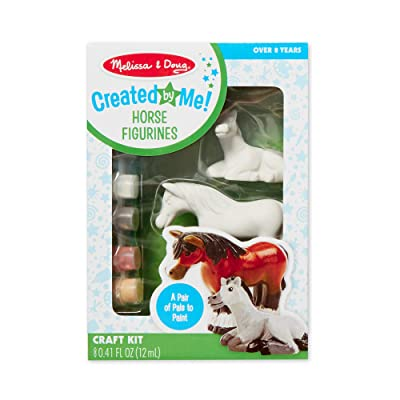 Melissa & Doug Created by Me! Horse Figurines Craft Kit (2 Resin Horses, 6 Paints, Paintbrush): Melissa & Doug: Toys & Games