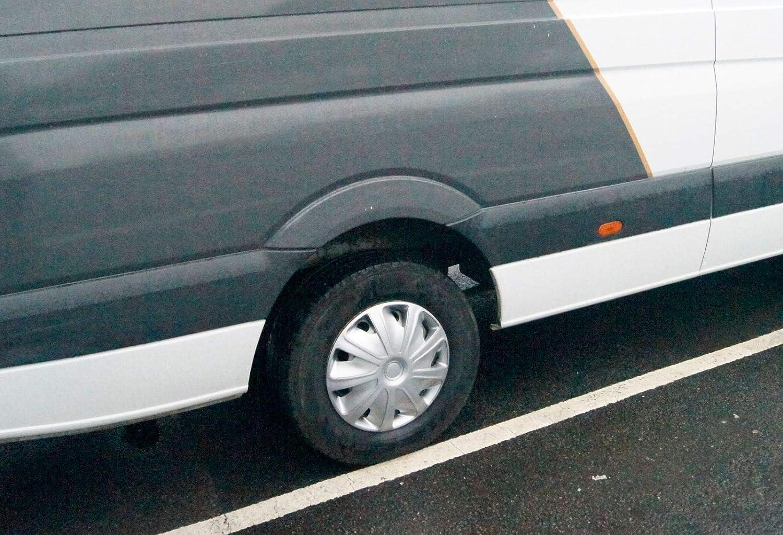 UKB4C 4x Silver 16 Inch Deep Dish Van Wheel Trims Hub Caps Mercedes Sprinter