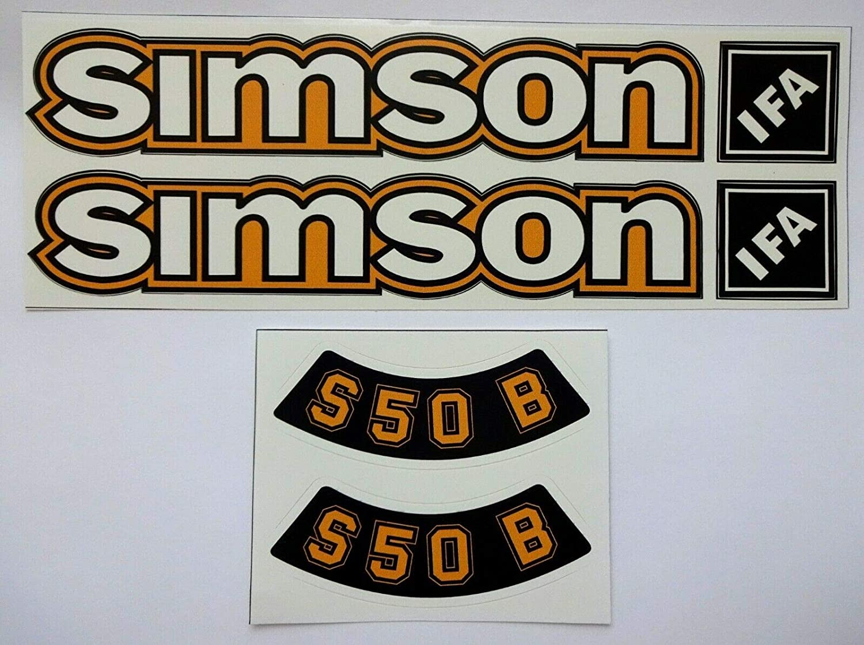 6 Stück Aufkleber Simson S 50 Ifa Ocker Im Ddr Stil Sticker Simme Auto