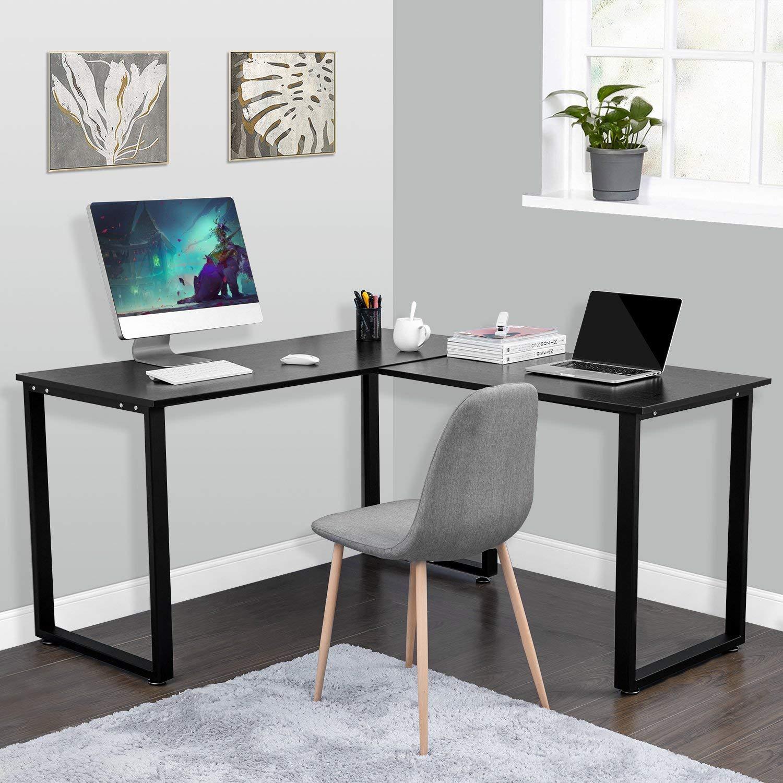 Escritorio esquinero en Forma de L para Oficina en casa ...