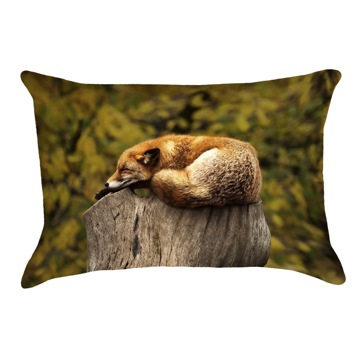 ArtVerse Katelyn Smith 14' x 20' Spun Polyester Double Sided Print with Concealed Zipper & Insert Sleeping Fox Pillow