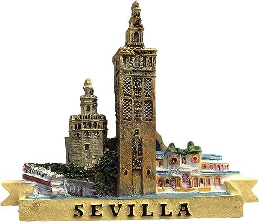 Sevilla España 3D Giralda Imán de Nevera Colección de Resina de Recuerdo, Sevilla Imán Regalo Decoración magnética de la Cocina del hogar: Amazon.es: Hogar