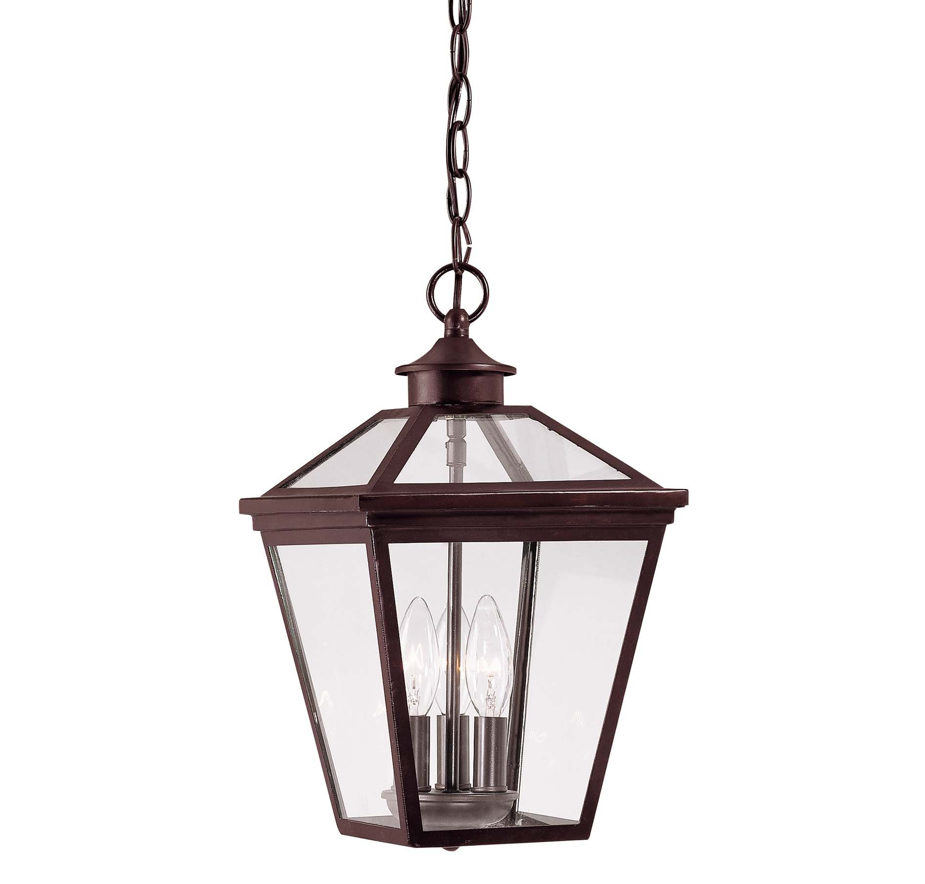 Savoy House 5-146-13 Outdoor Pendant with Clear Shades, English Bronze Finish by Savoy House