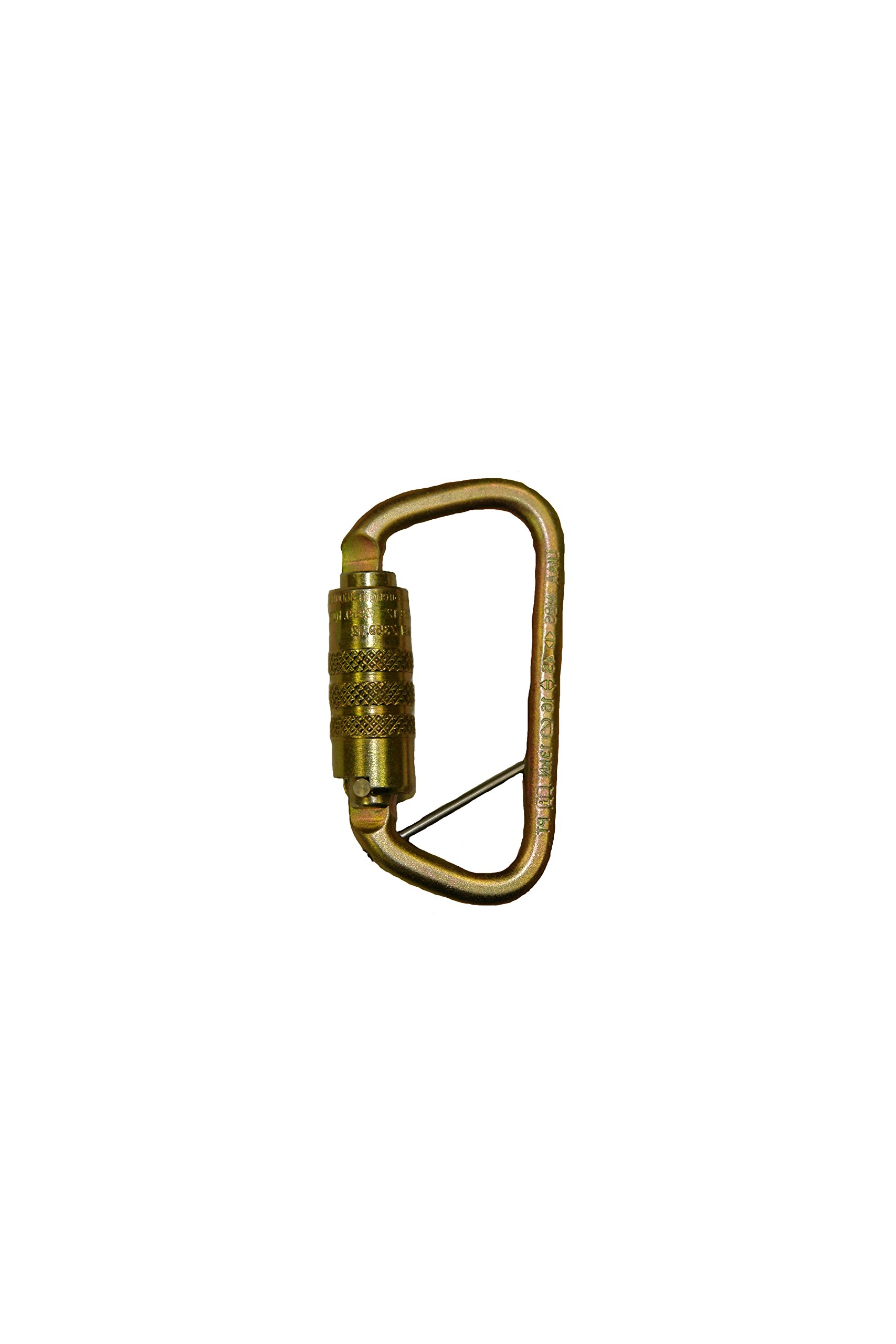 Elk River 17455 Fall Rated Aluminum Side Swing Carabiner with Auto Twist-Lock and Pin, 3600 lbs Gate, 1-1/8'' Gate Opening