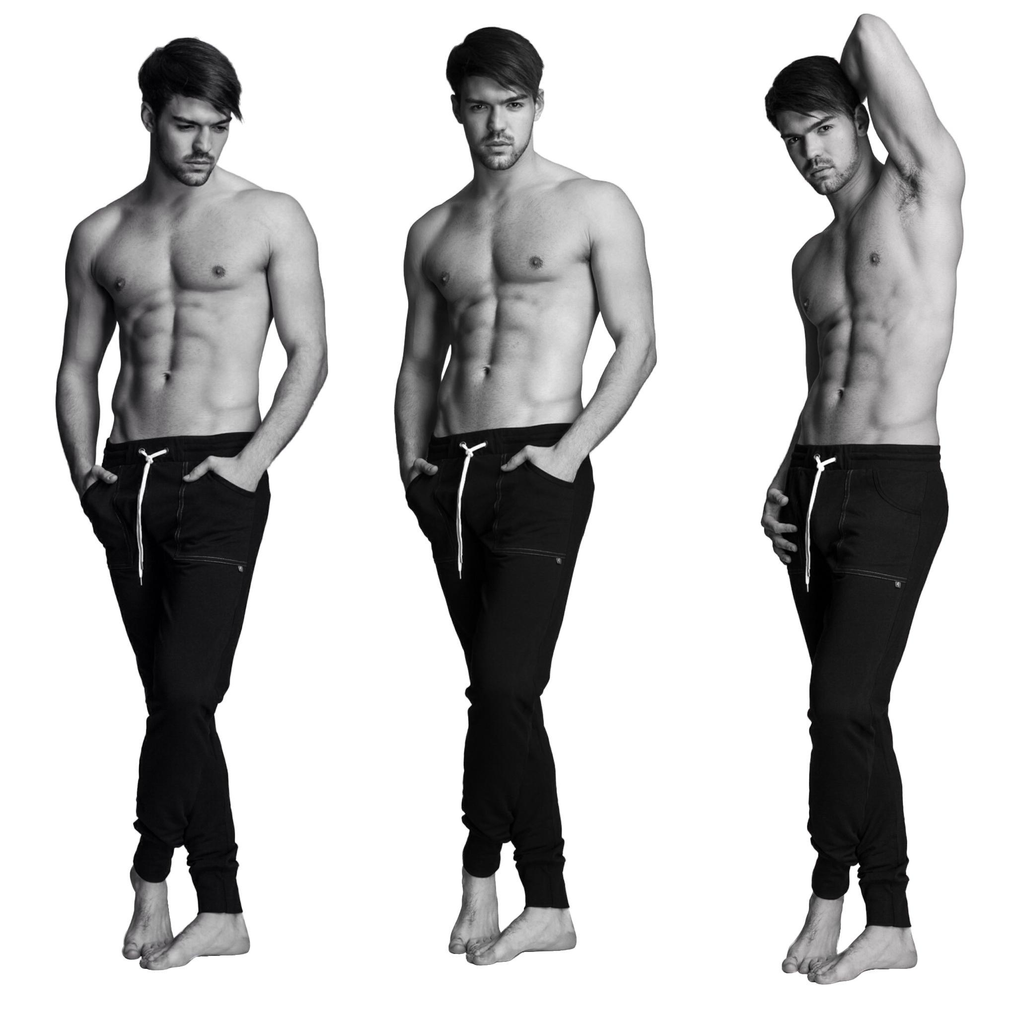 4-rth Long Cuffed Yoga Pant (Medium, Black) by 4-rth