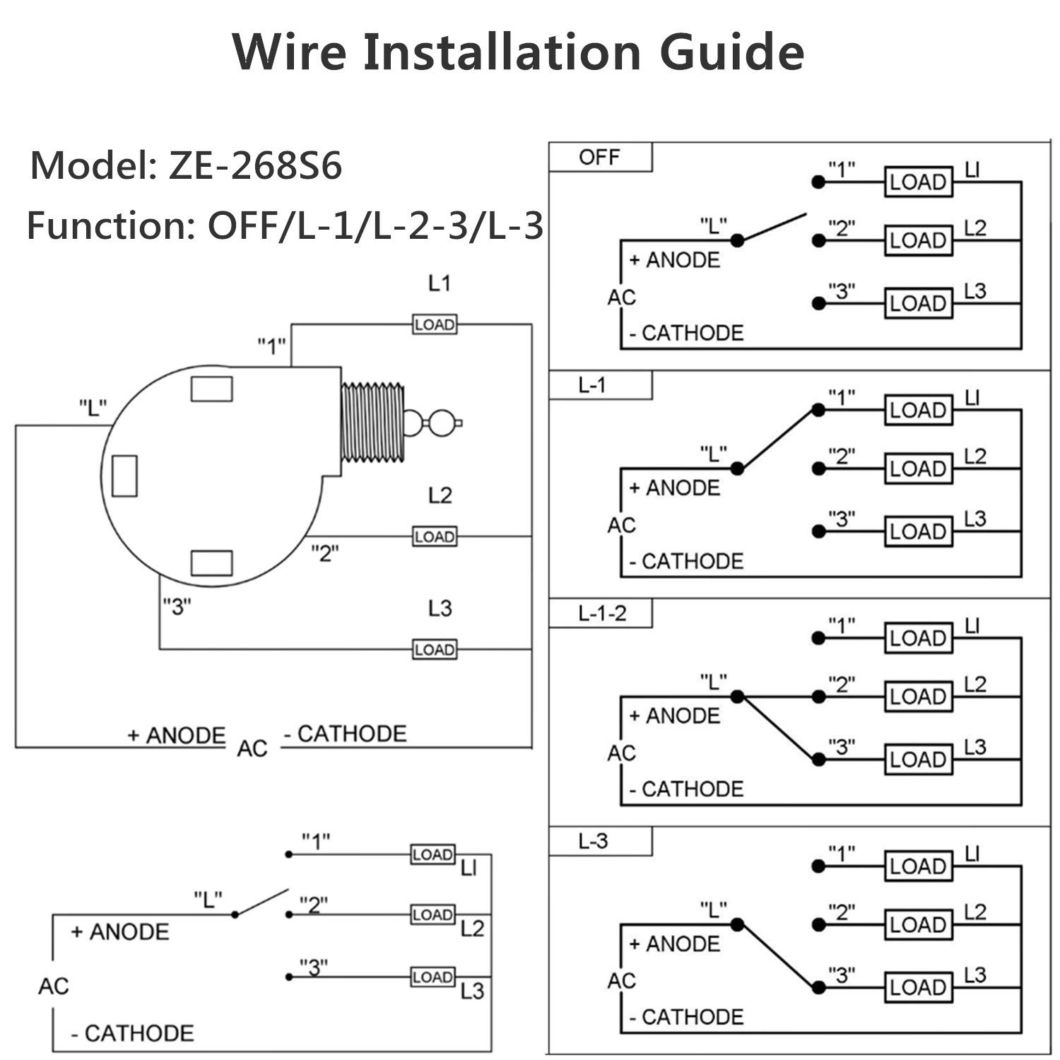 3 Sd Rotary Fan Switch Wiring Diagram