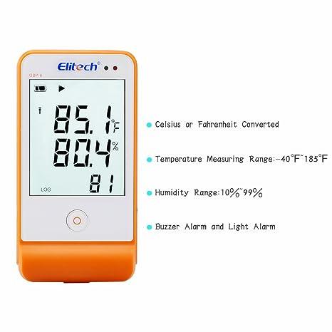 Monland Usb Registrador De Datos De Temperatura De Humedad Grabadora Registrador De Datos Rh Temp Medidor De Grabaci/ón Humiture Term/ómetro Dom/éstico Del /índice De Calor
