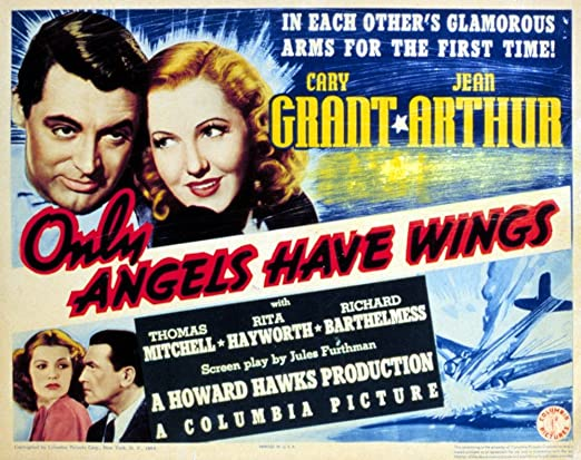 1939 Jean Arthur Cary Grant movie poster print Only Angels Have Wings
