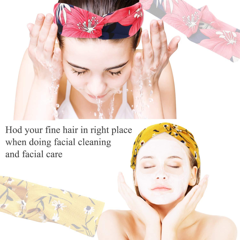 Headbands for Women, Fascigirl 20 PCS Vintage Floral Bandeau Headbands Elastic Hair Bands Criss Cross Hair Wrap Hair Accessories : Beauty