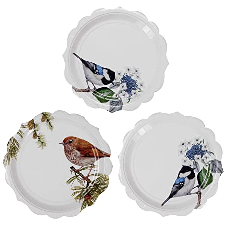 Buy Paper Plates Alink 9 Luncheon Dinner Shower For Tea Party 12 Pack Online At Low Prices In India