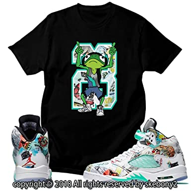 5ae464b13a0e Custom T Shirt Matching Style of Air Jordan 5 Wings Features JD 5-1 ...