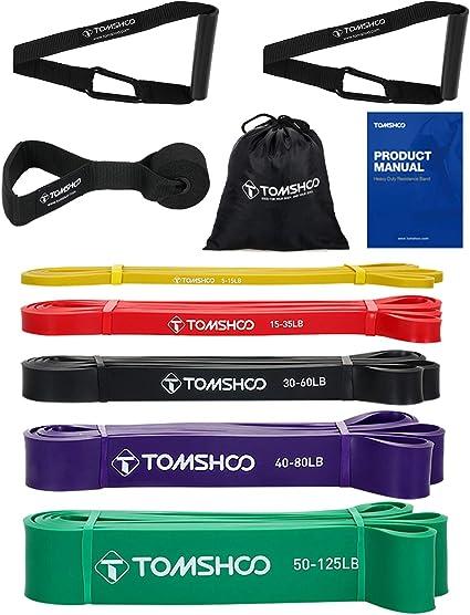 Widerstandsbänder Fitnessbänder Resistance Latex Pull Band Yoga 5Stück