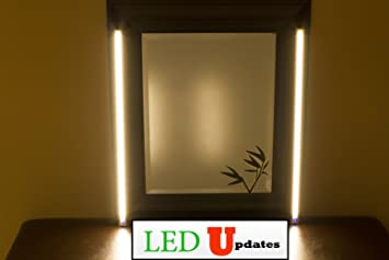 vanity mirror lighting. MAKE UP MIRROR LED Light Dual 2ft VANITY LIGHT SET Warm White Color WITH UL Vanity Mirror Lighting I
