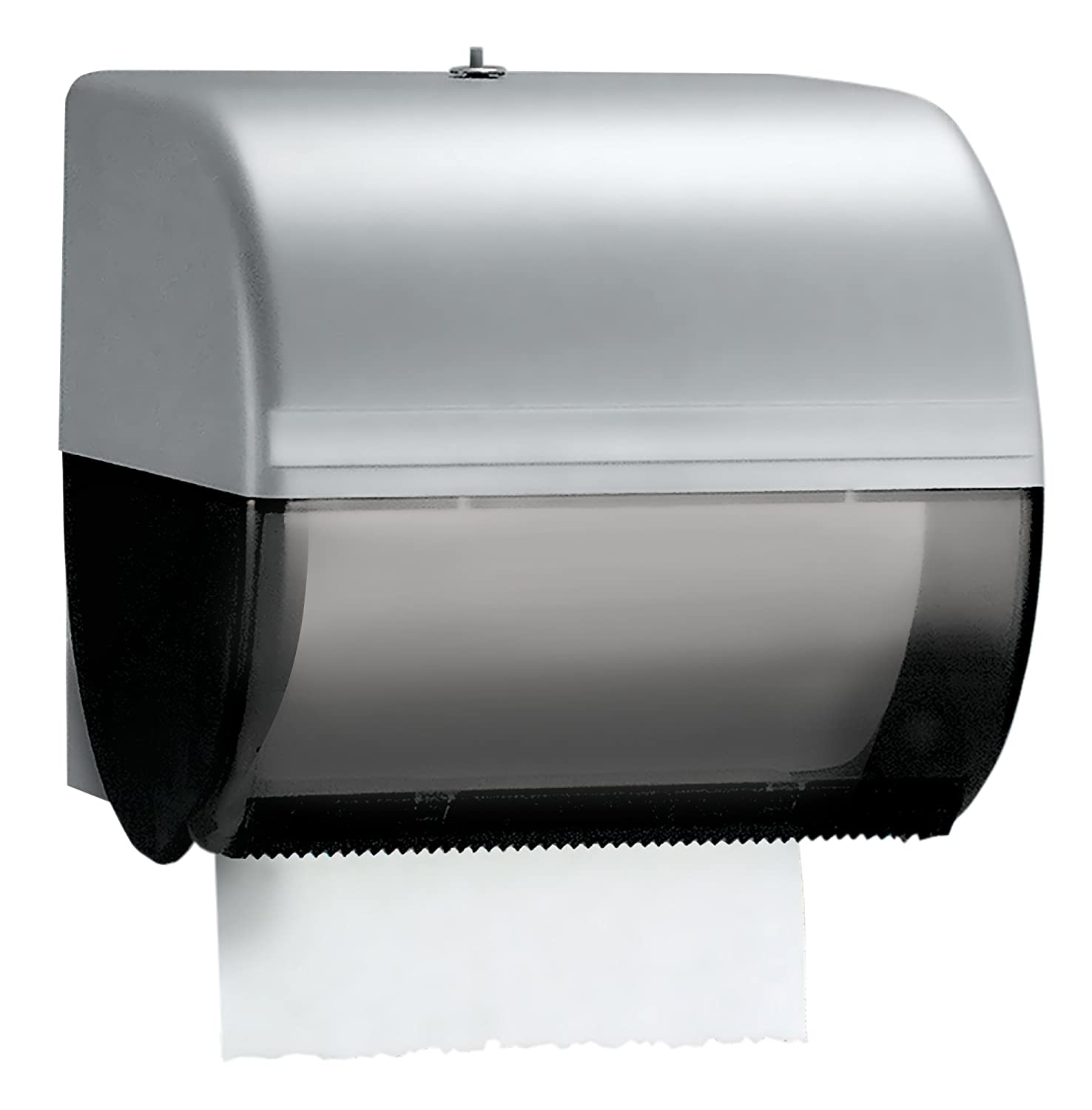 "Kimberly Clark Omni Roll Paper Towel Dispenser 09746 Compact Manual 10.5"" x 10"" x 10"" Smoke Black 1 Order"