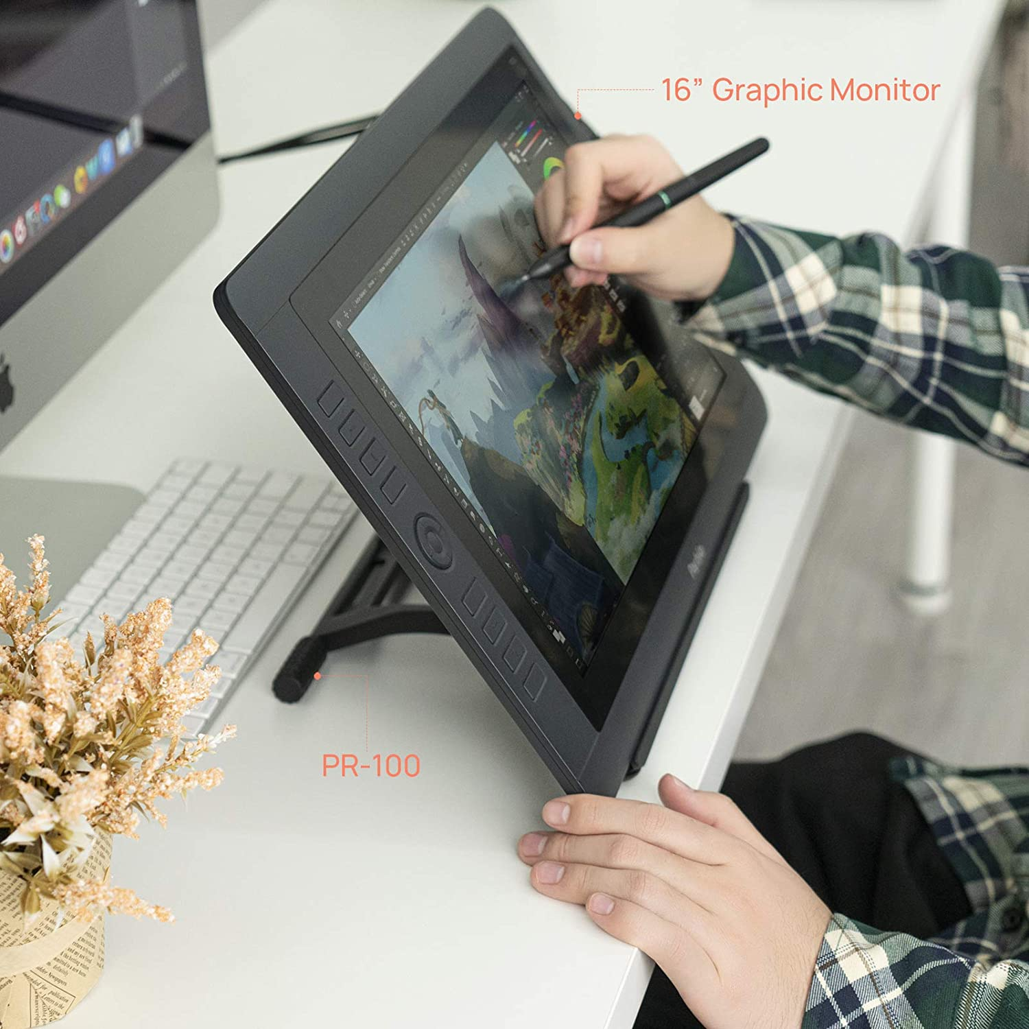 iPad Adjustable from 10 to 16 inch for Digital Graphics Monitor Drawing Tablets Laptop Parblo PR100 Tablet Stand