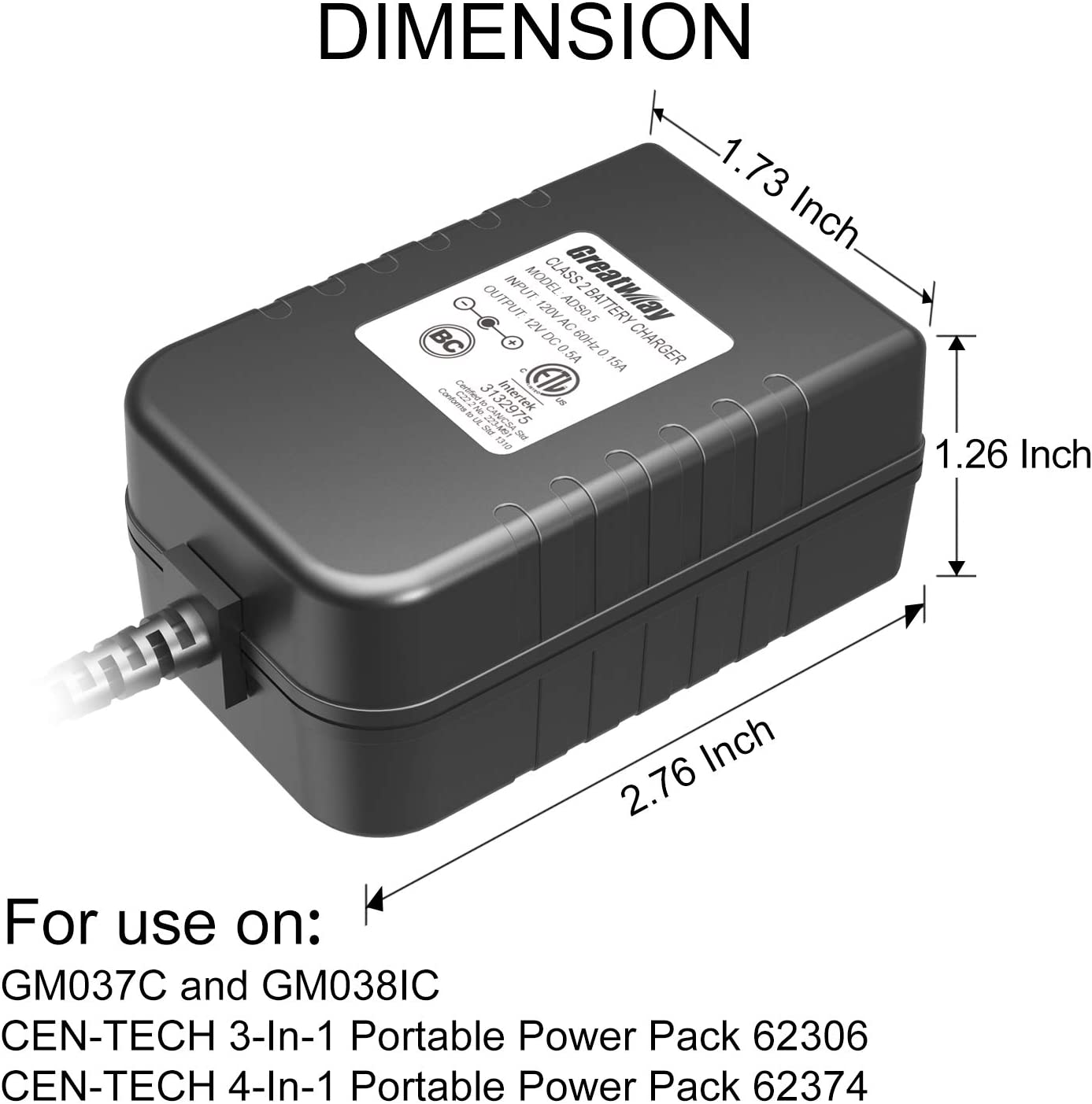 Battery Charger Ads0 5 12v 0 5a