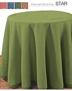 Falda para Mesa Camilla Redonda Modelo Darsena, Color Verde ...