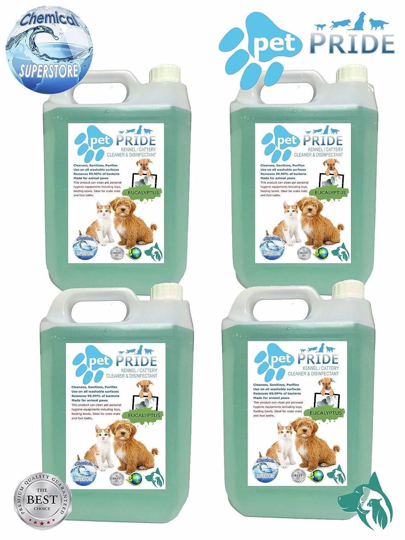 4x 5l pour animal domestique Pride chenil, Chatterie Désinfectant, Aspirateur, Désodorisant–Eucalyptus Désodorisant-Eucalyptus Unbranded