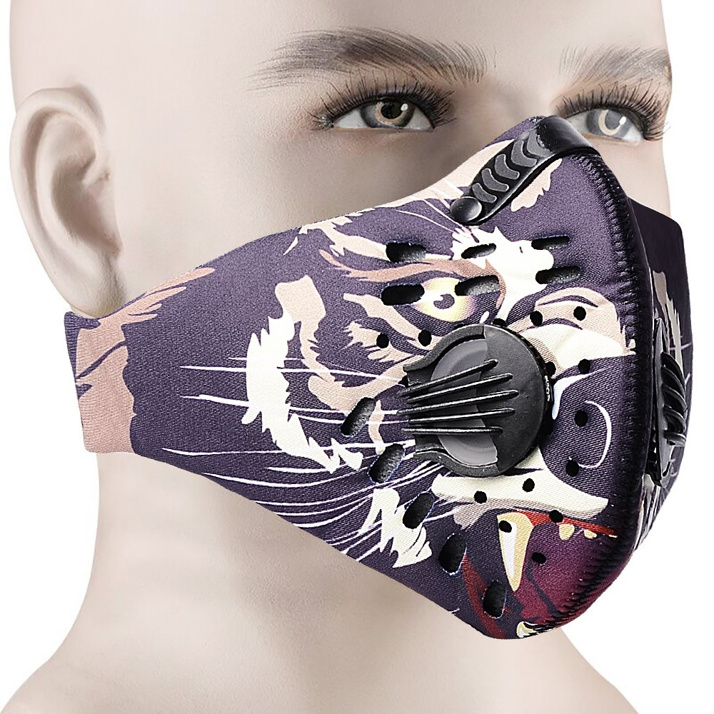 anqier Warm Winter Windproof Mask, Breathing Masks Anti-pollution Sports Mask Activated Carbon Air Filter, Running?Cycling Motorbike Mask. Protects From Dust, Exhaust Fumes, Smog, Pollen Allergy.