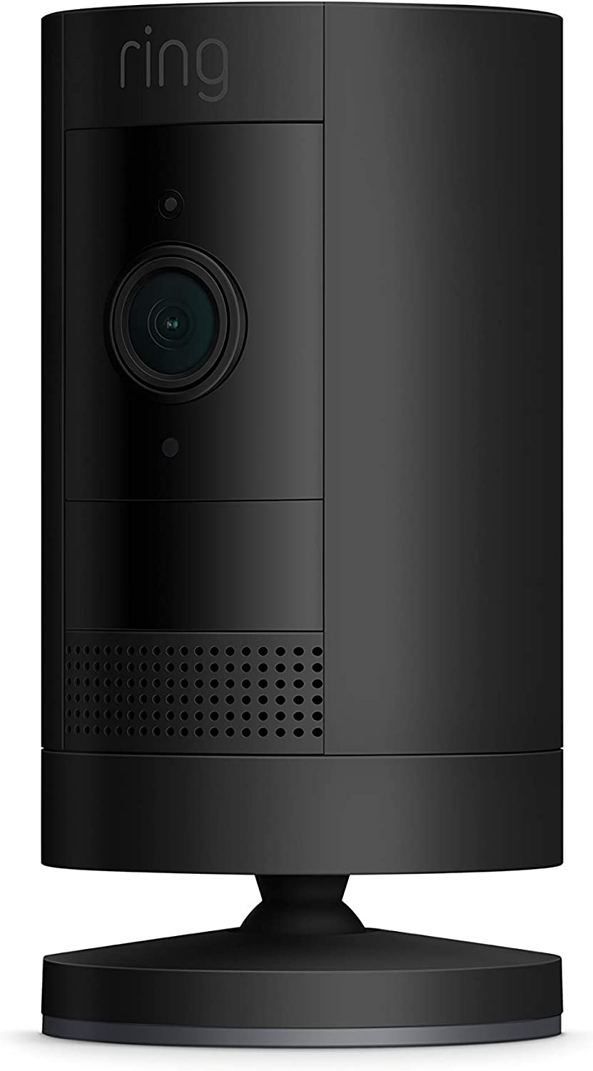 Ring Stick Up Cam Battery HD security camera with custom privacy controls, Simple setup, Works with Alexa - Black (3rd Gen, 2019 release)