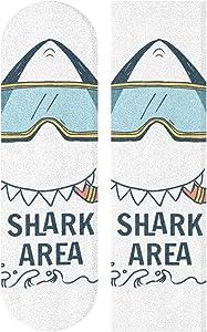 """Swim Shark Skateboard Grip Tape Sheet Sport Outdoor Longboard Griptape Bubble Free Anti-Slip 33""""X 9"""" Tape"""