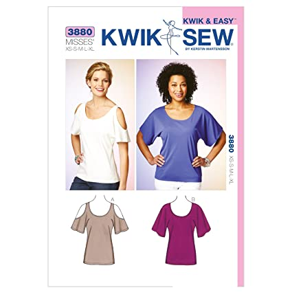 Amazon Kwik Sew K3880 Tops Sewing Pattern Size Xs S M L Xl