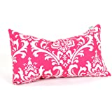 """Majestic Home Goods French Quarter Small Pillow, 20"""" x 12"""" (Hot Pink)"""