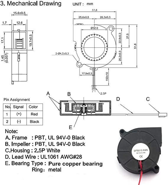 Amazon.com: Magic&Shell - Ventilador de refrigeración de 2 ...
