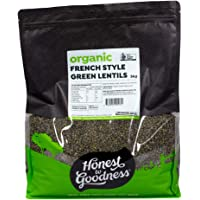 Honest to Goodness Organic French Style Green Lentils, 5kg
