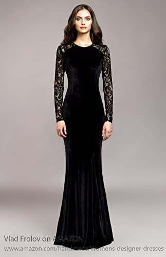 a73091c55 Amazon.com  Black velvet evening dress