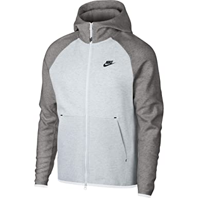21535cb73 Nike Men's Tech Fleece Full Zip Hooded Jacket, Men, 928483-052, Birch  Heather/Dark Grey Heather/White/Black, XXL: Amazon.co.uk: Clothing