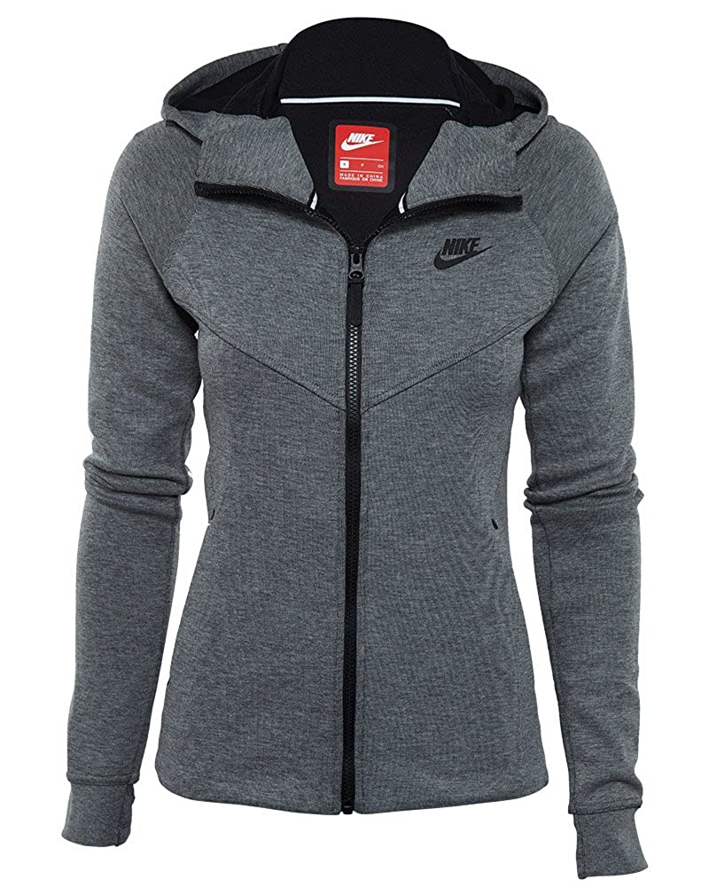 Nike Womens Tech Fleece Full Zip Hoodie Black