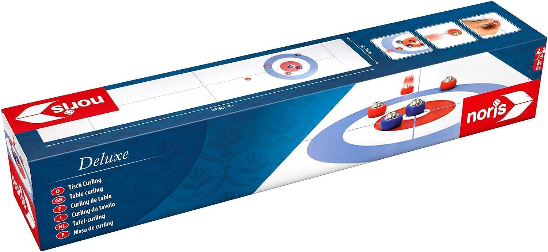 Noris 606101717 Curling, desenrollar y Listo, con Alfombra de rizos Enrollable para Mayor diversión también en Movimiento, a Partir de 6 años