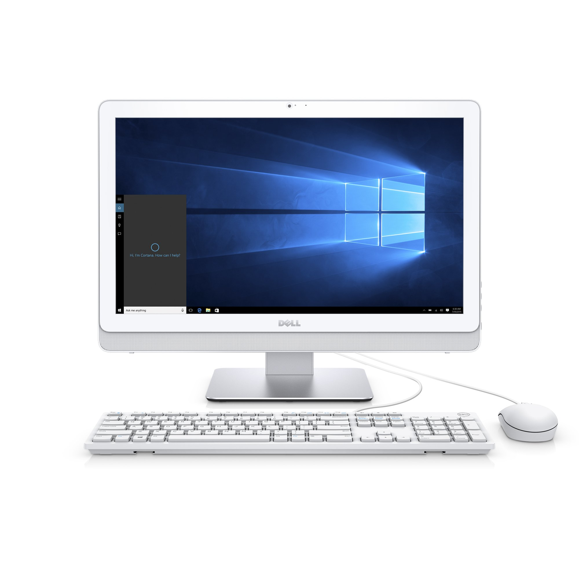 Dell i3265-A643WHT-PUS Inspiron 3265 AIO Desktop, 21.5'' Display, AMD A6-7310 APU, 6GB Dual Channel Memory, 1TB 5400 rpm Hard Drive, White by Dell