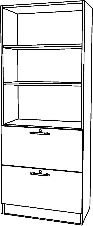 Bumo Office Hangeregistratur Regal Schrank Abschliessbar Aus Holz
