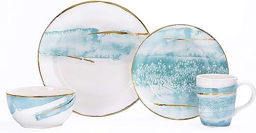 Amazon.com: Juego de vajilla de cerámica de Bico Watercolor ...