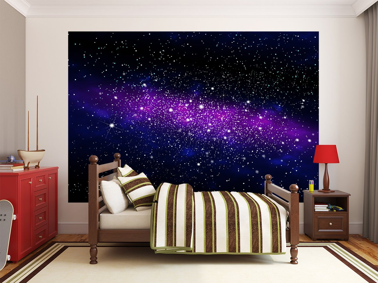 Outer Space Bedroom Decor Amazoncom Galaxy In The Universe Photo Wallpaper Space Mural