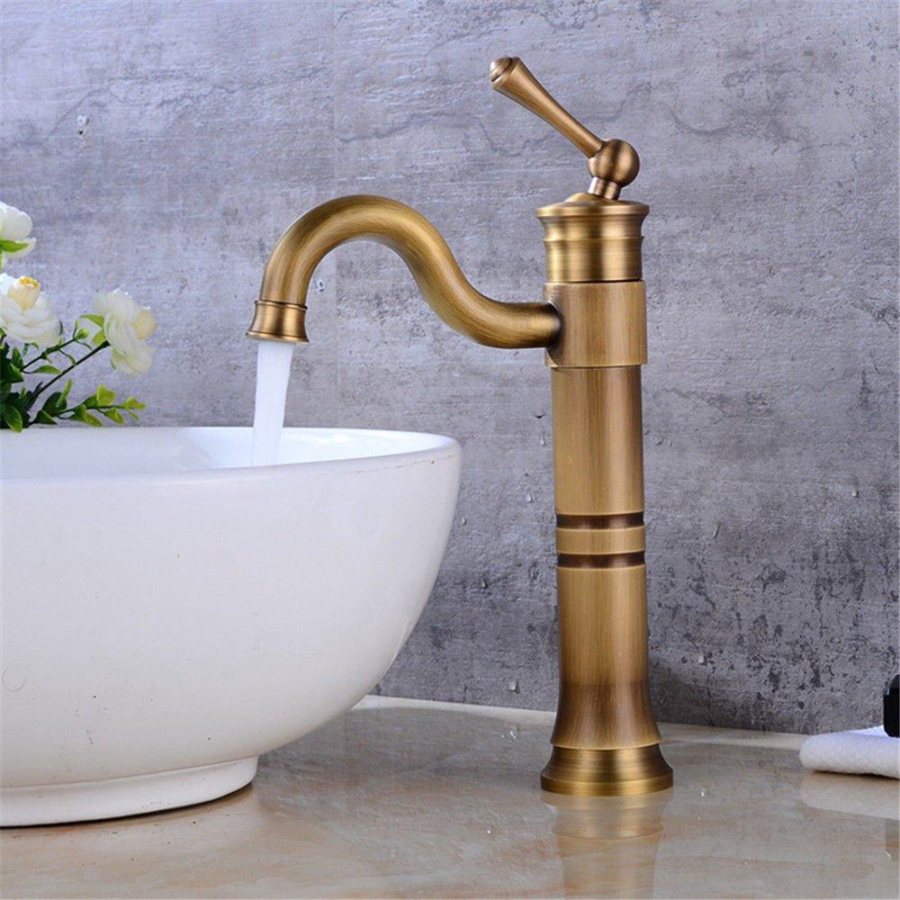 NewBorn Faucet Wasserhähne Warmes und Kaltes Wasser Guter Qualität auf Dem Rise-Washing Antike voll Kupfer Beschläge