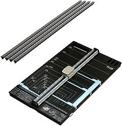 プラス 裁断機 スライドカッター ハンブンコ A3 + 専用カッターマット (受木) セット