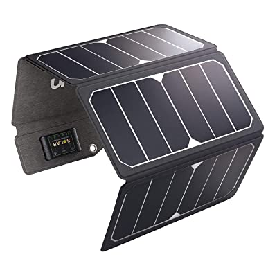 MOOLSUN Solar Charger 28W Portable Sunpower PU Solar Panel Charger with 3 USB Output Ports Waterproof Foldable Camping Travel Charger for Tablet Ipad iPhone and More : Garden & Outdoor
