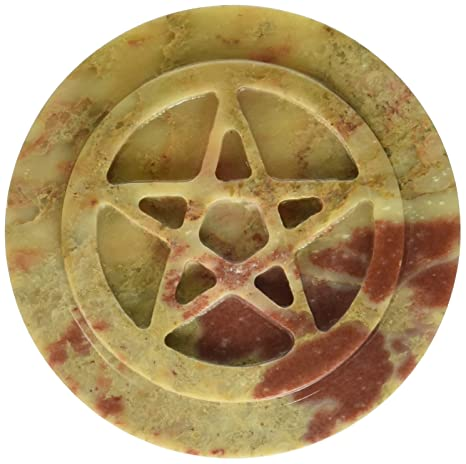 Amazon.com: Esteatita Pentacle Altar Tile: Home & Kitchen