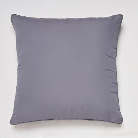Sancarlos-Cojín SENSACIÓN con Relleno, Microfibra, Color Gris Oscuro, Tamaño 30x45 cm