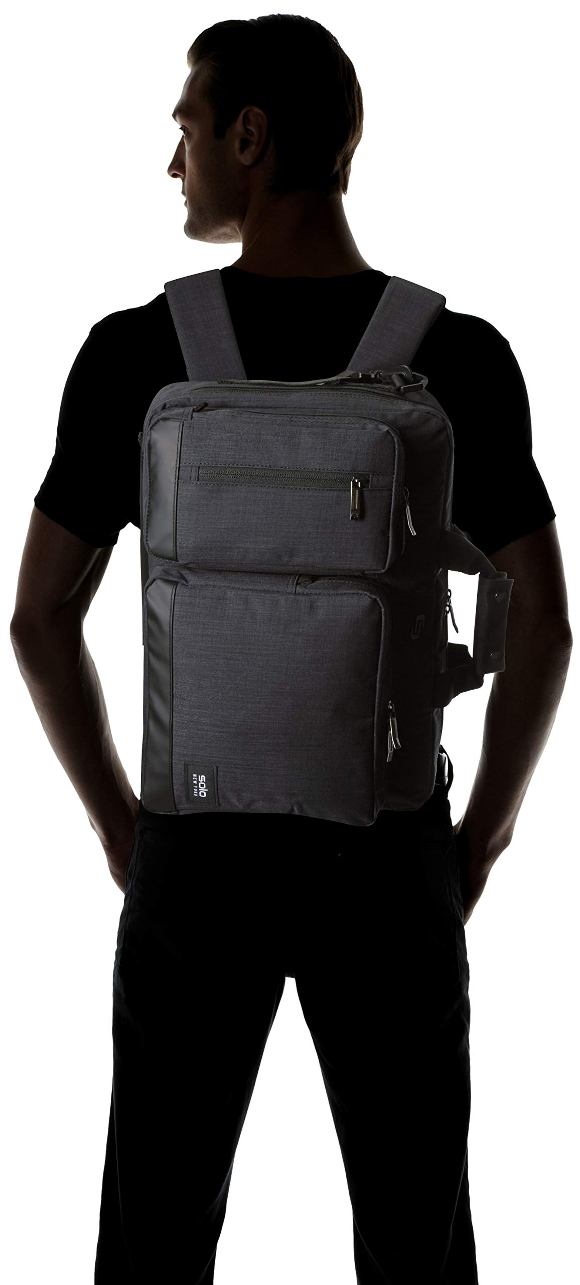 Solo Duane 15.6 Inch Laptop Hybrid Briefcase, Converts to Backpack, Slate, Amazon Exclusive by SOLO (Image #9)