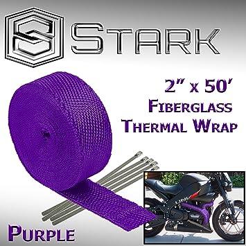 Aluminium Fiberglass Header Exhaust Wrap 2 Inch x 33 Feet Heat Protection Tape