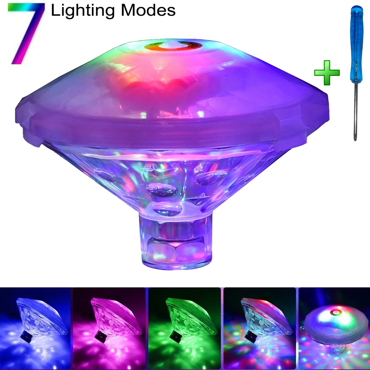 Antallcky Bath Light Bathtub Lights Upgrade Version,Waterproof Colorful LED Toys,Floating Lights Battery Operated for Bathtub Pool Bathroom Pond Spa Party Decorations,Christmas(7 Lighting Modes) by Antallcky