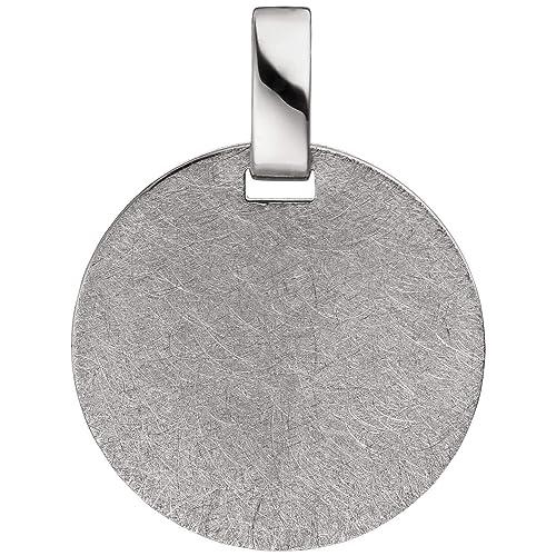 4969c8ab3957 Colgante 18 mm redondas placa de grabado de plata de ley 925 ...