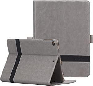 ProCase iPad 9.7 2018/2017, iPad Air 2, iPad Air Case - Leather Stand Folio Cover Case with Multi-Angle Viewing for Apple iPad 9.7 inch, Also Fit iPad Air 2 / iPad Air -Grey