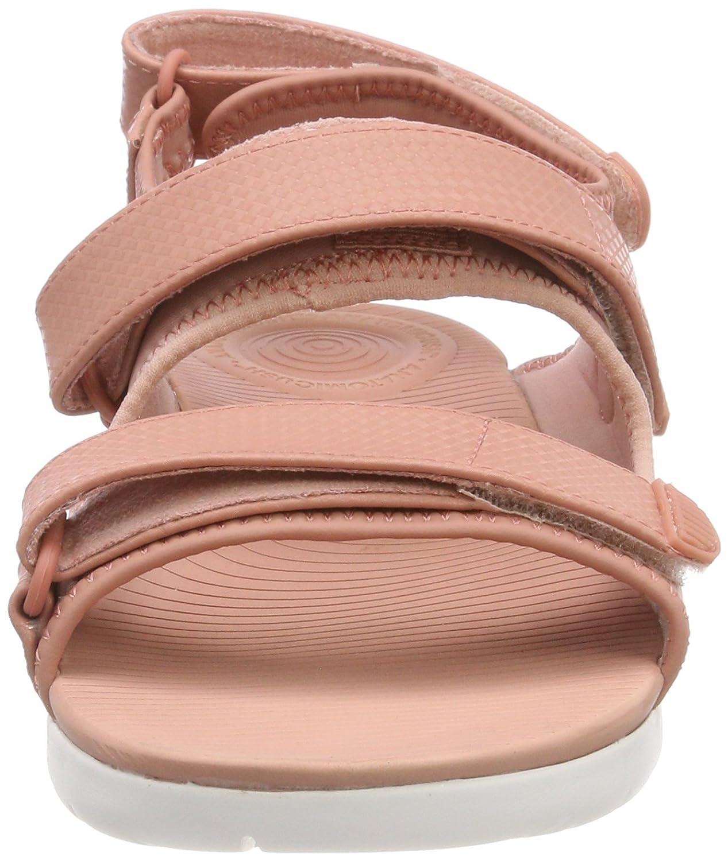 FitFlop Damen Neoflex Back-Strap Peeptoe Schwarz Sandalen, Schwarz Peeptoe Mix Pink (Dusky Pink Mix 588) cac550