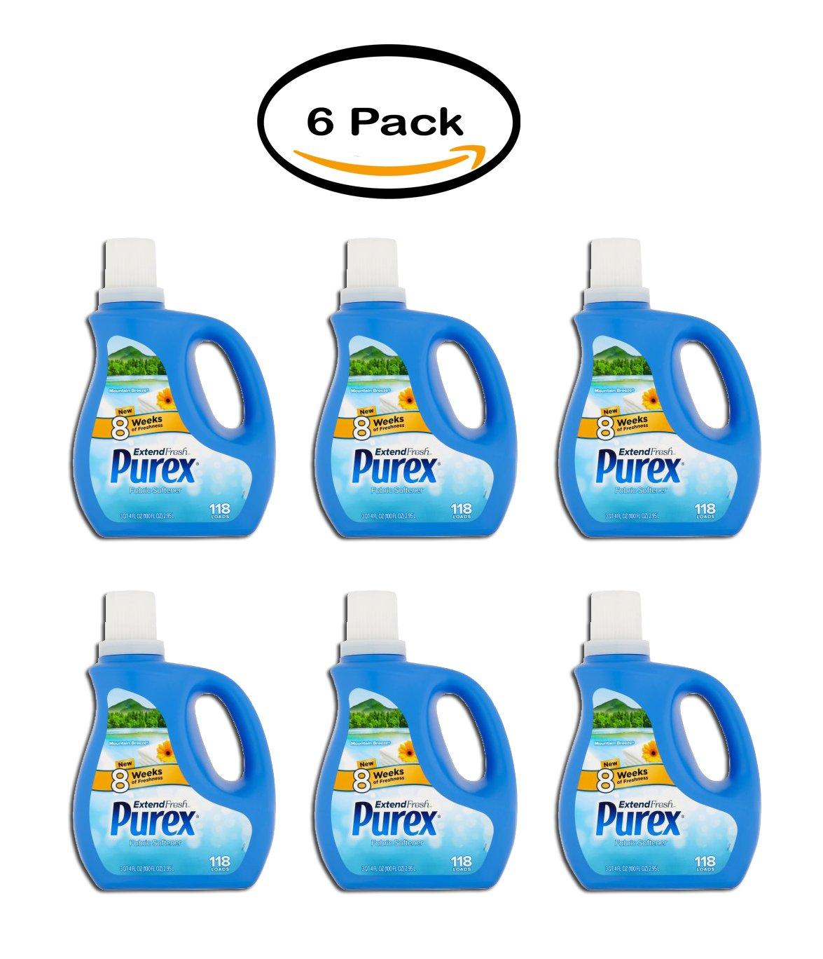 PACK OF 6 - Purex Extend Fresh Mountain Breeze Fabric Softener, 118 loads, 4 fl oz