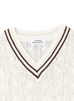 James Charlotte Cotton Cricket Sweater 3306-B: Wild Oat / Bronze